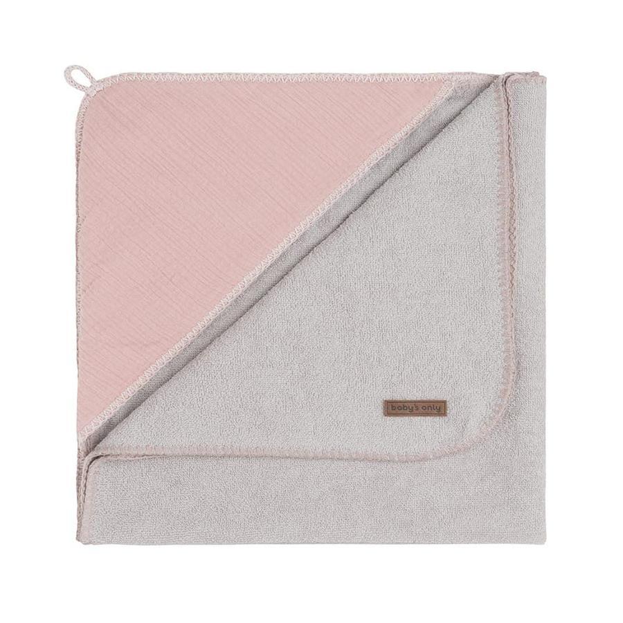 baby's only Badcape met kap Breeze oud roze 75x85 cm