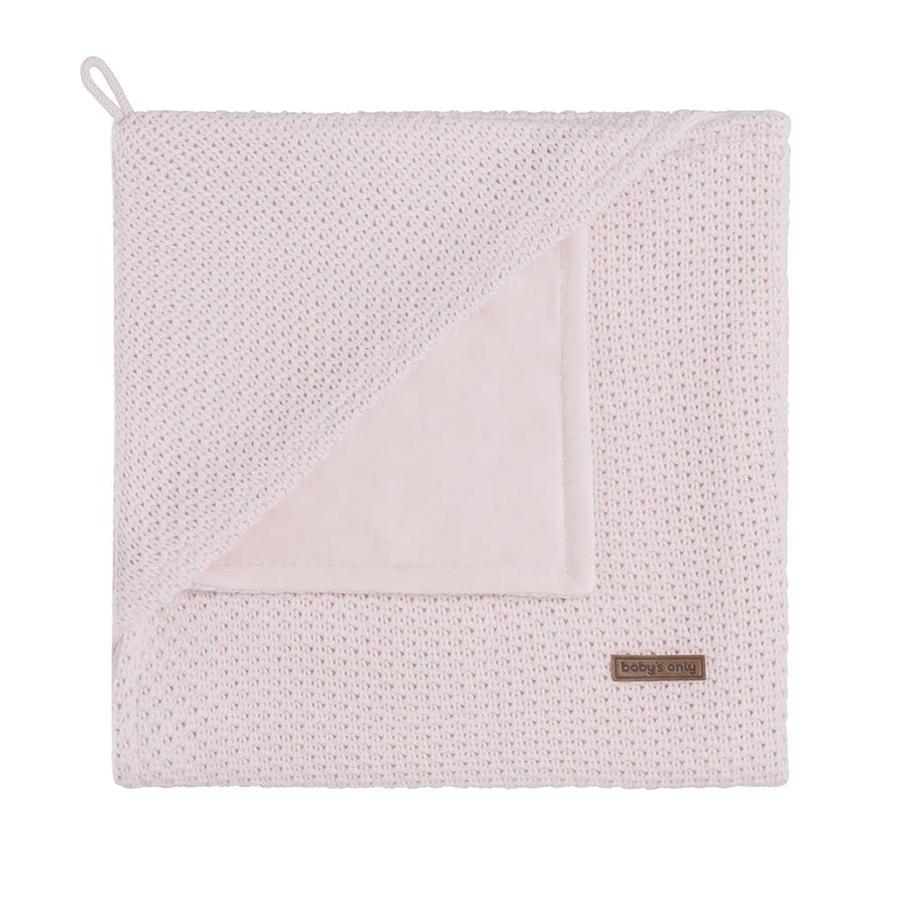 baby's only Plaid enfant avec capuche Flavor rose classique 75x75 cm