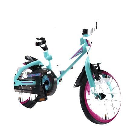 """bikestar barnesykkel Urban Jungle 14 """", turkis / bær"""