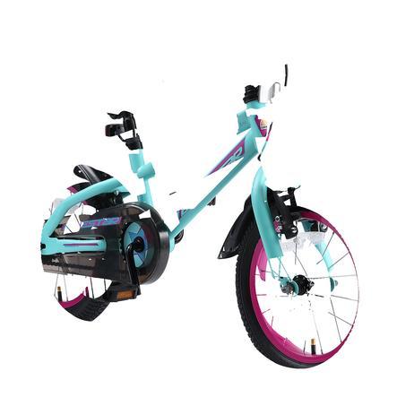 """bikestar kinderfiets Urban Jungle 14"""", turkoois/bes"""