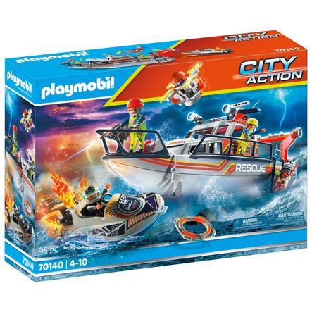 PLAYMOBIL  ® City Actie Maritieme nood: Brandbestrijdingsoperatie met reddingskruiser 70140