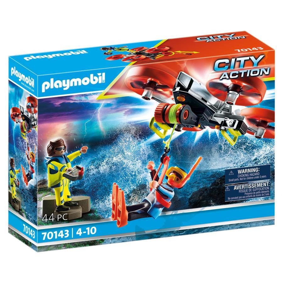 PLAYMOBIL  ® City Actie Maritieme Nood: Duiker Redding met Rescue Drone 70143