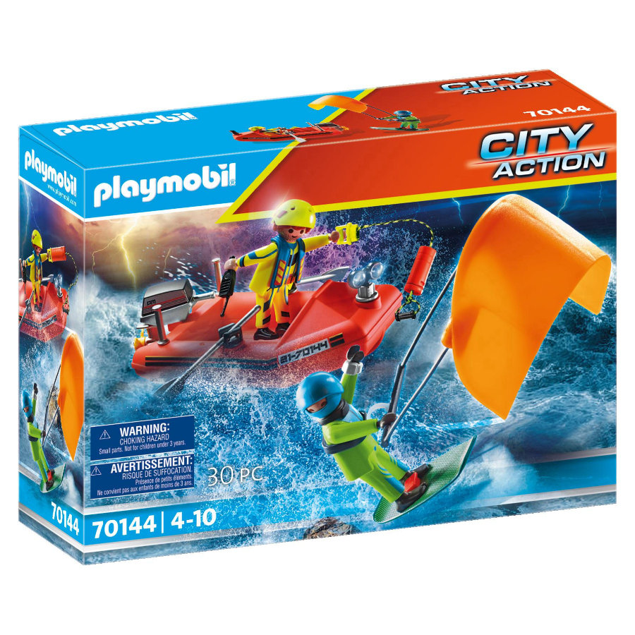 PLAYMOBIL  City Action distress : Kitesurfer rescue with boat 70144