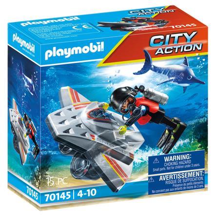 PLAYMOBIL® City Action Seenot: Löscheinsatz mit Rettungskreuzer 70145