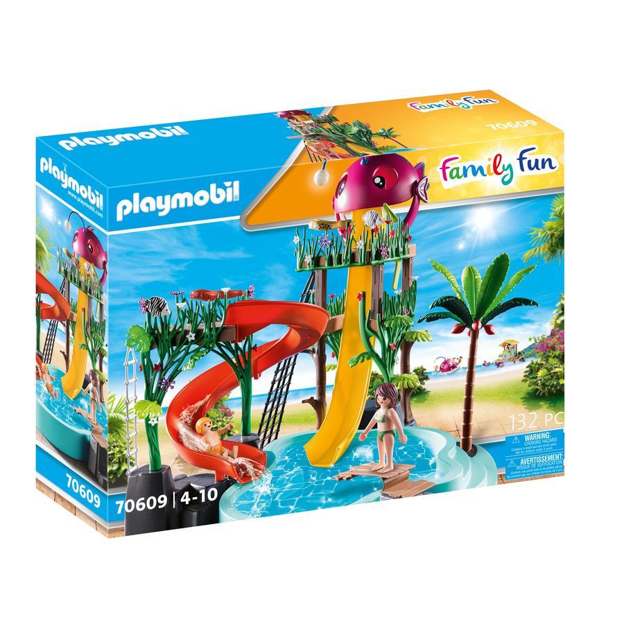 PLAYMOBIL® Family Fun Figurine parc aquatique avec toboggans 70609