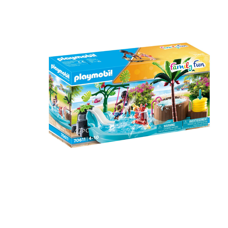 PLAYMOBIL® Family Fun Kinderbecken mit Whirlpool 70611
