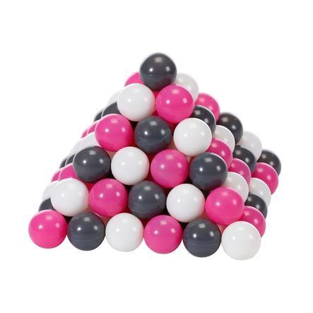 knorr® toys Lekeballer Ø6 cm - 100 lekeballer creme, grå, rose