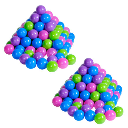 knorr® toys Bälleset Ø 6 cm, 200 Stück, softcolour