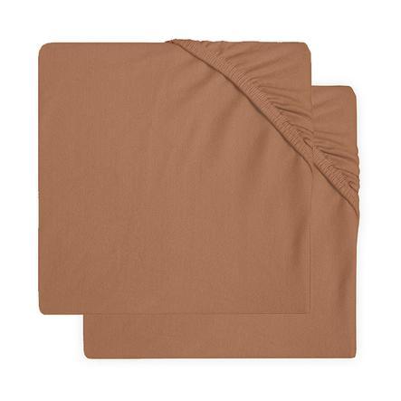 jollein Jersey Laufgitter Spannbettlaken 2er-Pack caramel 75x95 cm