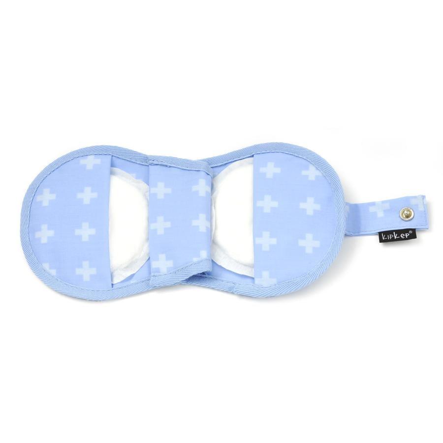 KipKep Pochette pour coussinets d'allaitement Napper Crossy Blue
