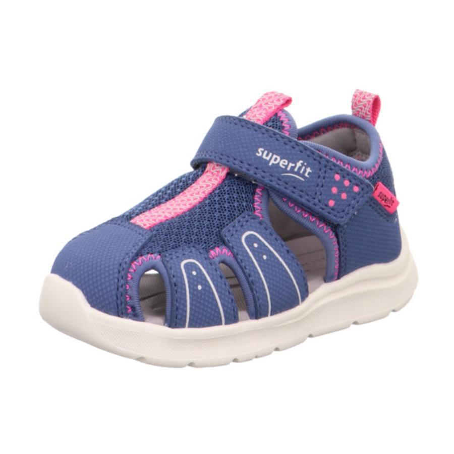 superfit Sandales enfant Wave bleu/rose, largeur moyenne