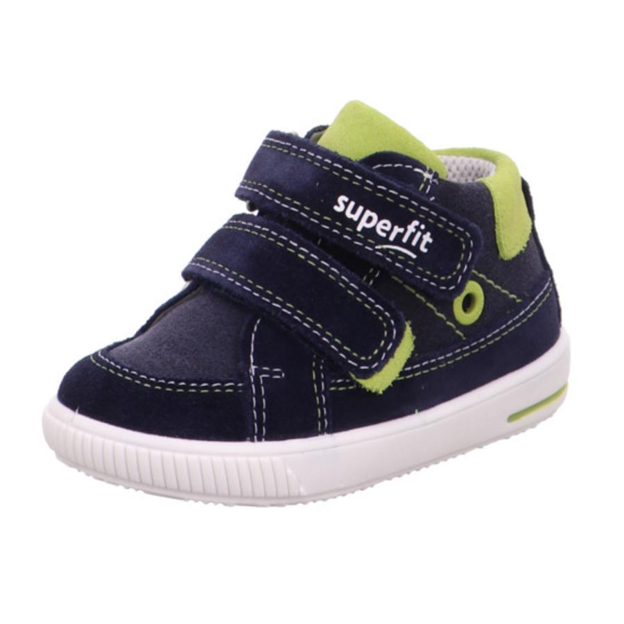 superfit Chaussures basses enfant scratch Moppy bleu/vert, largeur moyenne