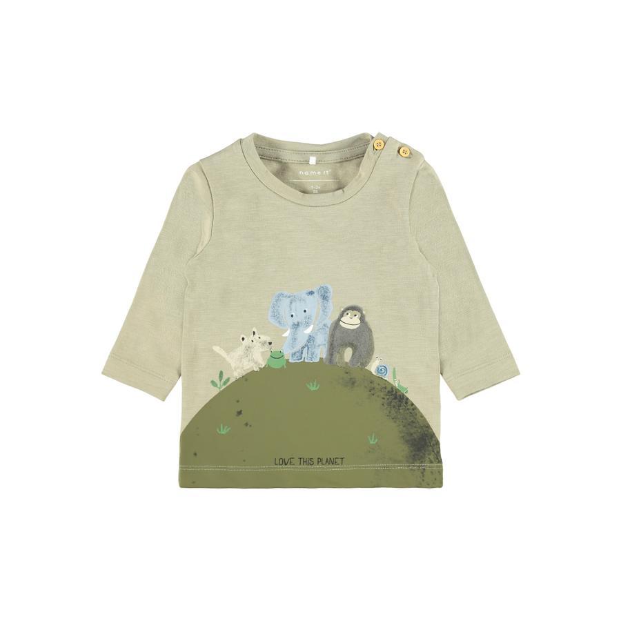 name it Langærmet skjorte NBMBIPLAN Silver Sage