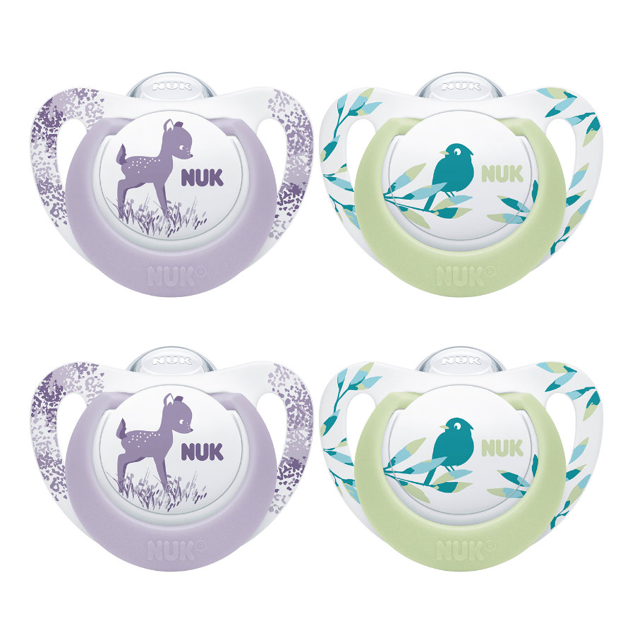 NUK Sucette Genius Color Gr. 2 Silicone Girl 2 x Set of 2