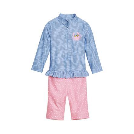 Playshoes UV-Schutz Einteiler Krebs blau-pink