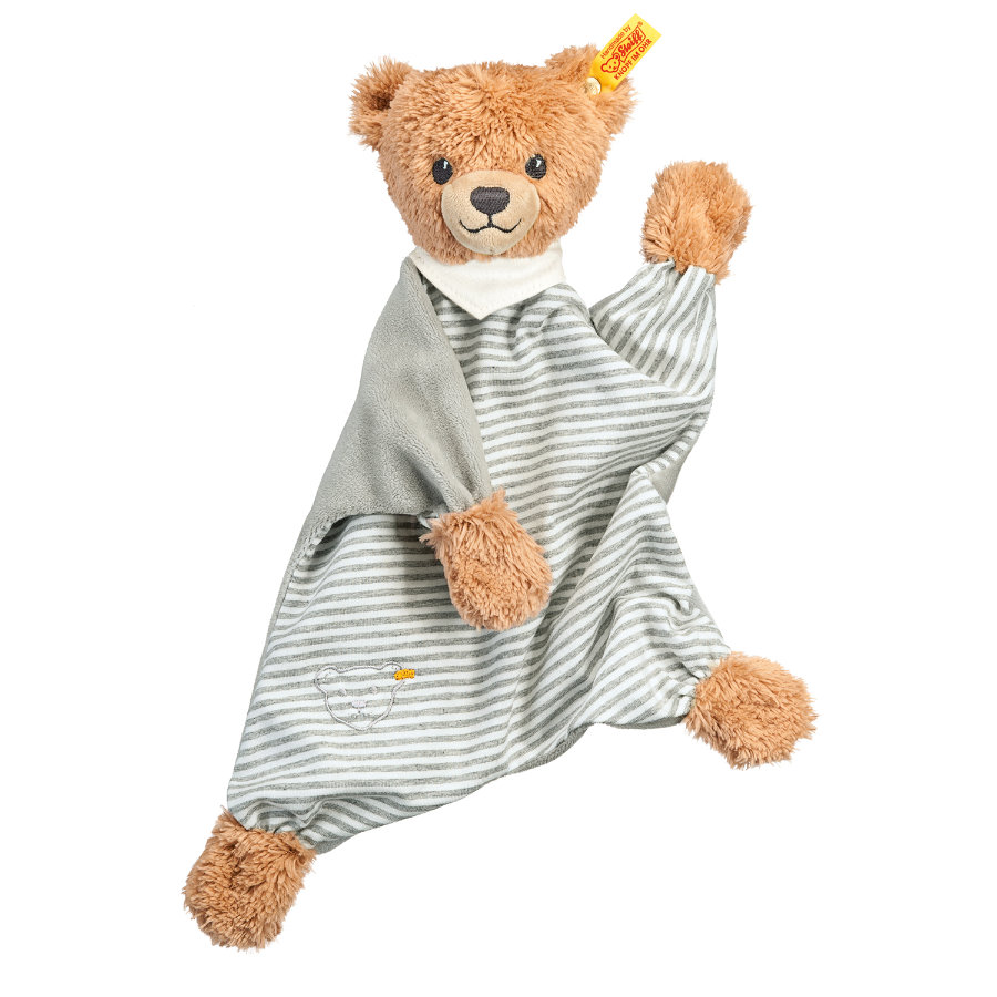 STEIFF Sleep Well Bear Comforter 30cm, grey