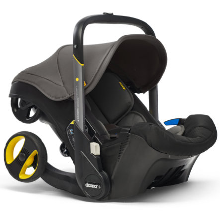 doona Babyschale Grey Hound / grau mit voll integriertem Fahrgestell, 2 in 1