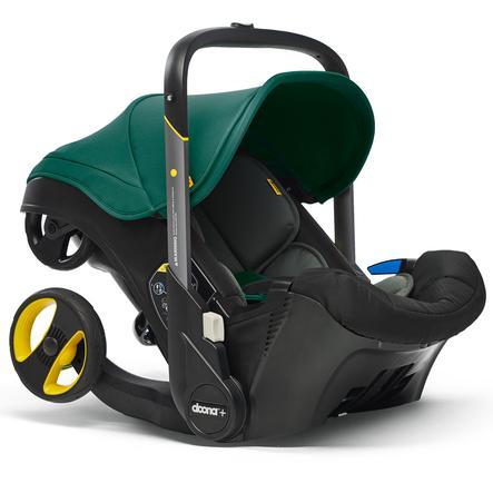 doona Babyschale Racing Green / grün mit voll integriertem Fahrgestell, 2 in 1