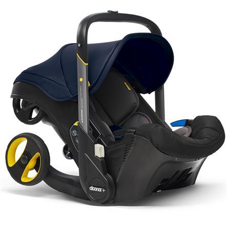 doona Babyschale Royal Blue / dunkelblau mit voll integriertem Fahrgestell, 2 in 1