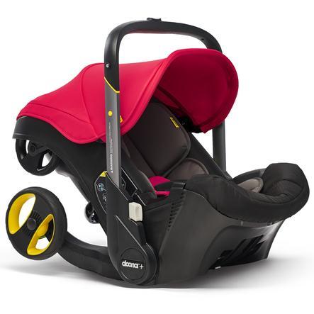 DOONA Babyautostol Flame Red / rød med integreret barnevognsstel, 2 i 1
