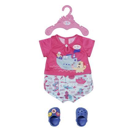 Zapf Creation BABY born Bath Pyjamas & Træsko 43 cm