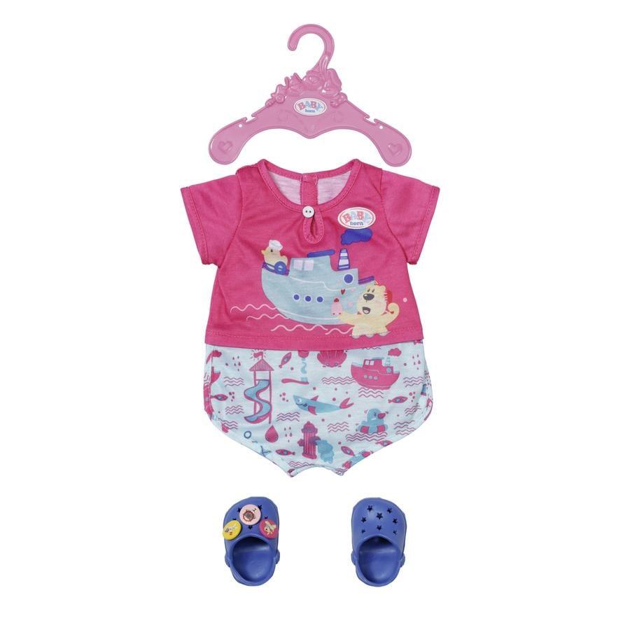 Zapf Creation BABY born Bath Pyjamas & Clogs 43 cm