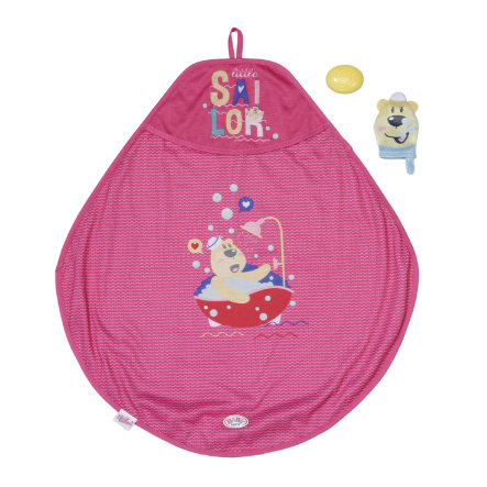 Zapf Creation BABY born Cape de bain pour poupon et gant