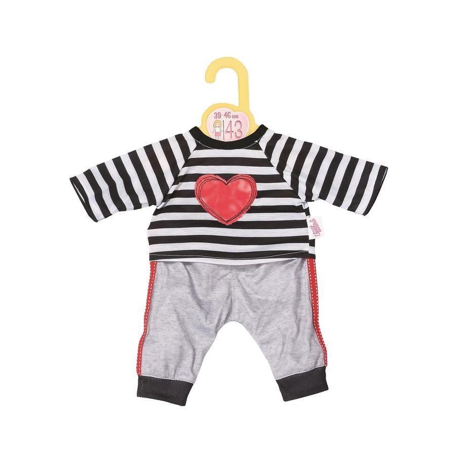 Zapf Creation Dolly Moda Sport-Outfit gestreift 43cm
