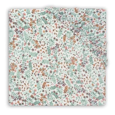 jollein Jersey prostěradlo na matraci do ohrádky Bloom 75 x 95 cm