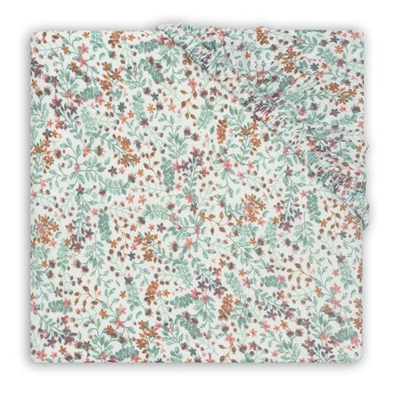 jollein Jersey Spannbettlaken Laufstallmatratze Bloom 75 x 95 cm