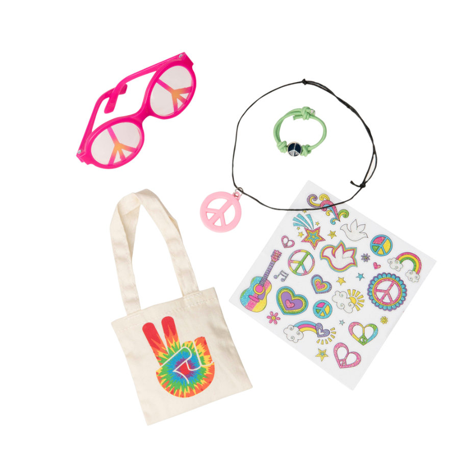 Our Generation - Love & Peace Accessoires Set mit Jutebeutel