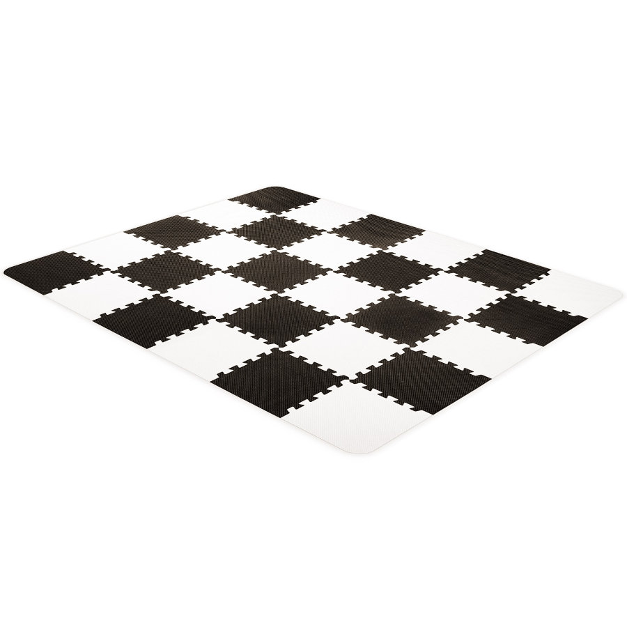 Kinderkraft Alfombra de espuma de puzzle Luno, negro