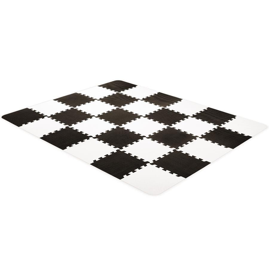 Kinderkraft Luno Puzzle - piankowa mata, czarna