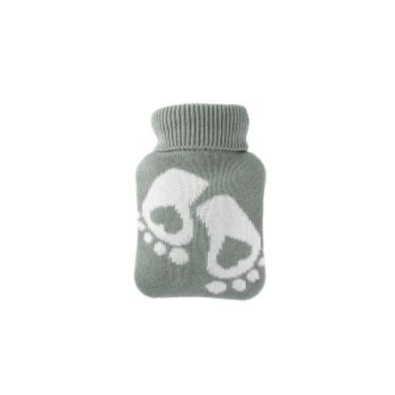 HUGO FROSCH Varmvattenflaska Mini 0,2 L Stickad omslag Pastellgrön fot