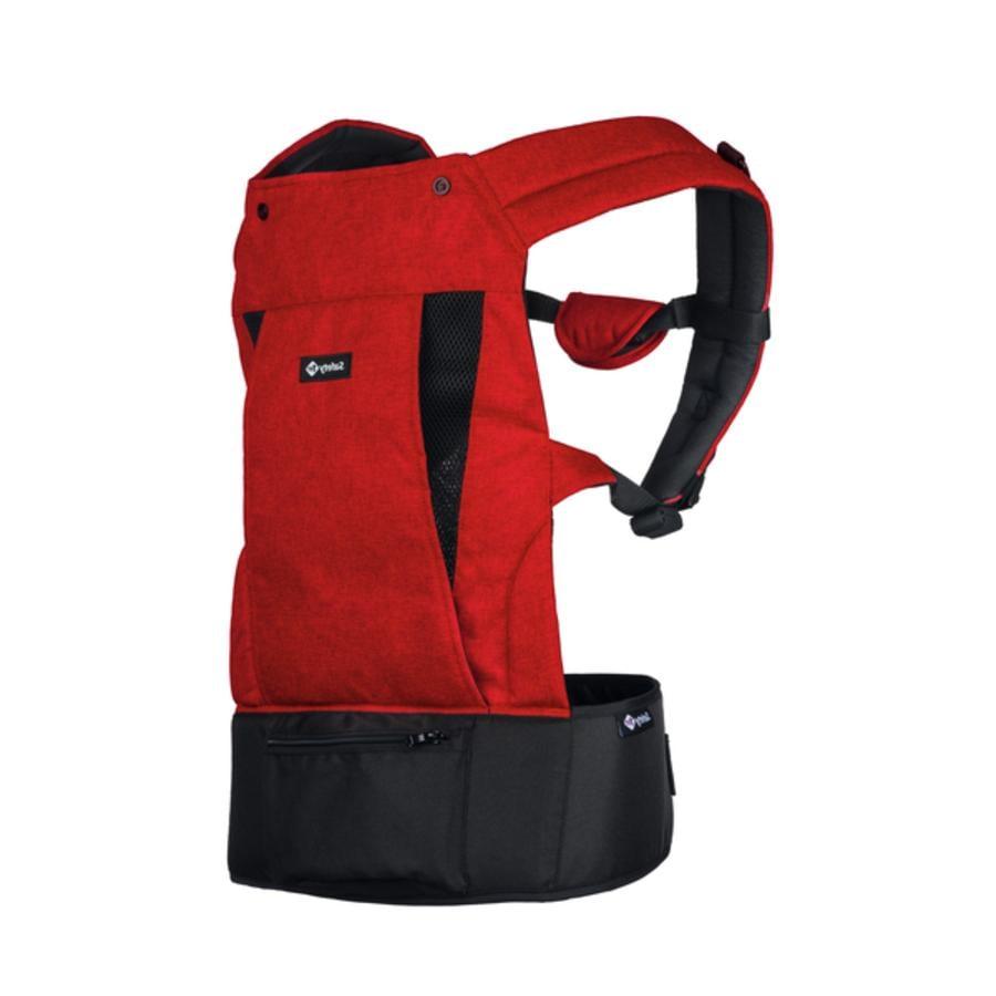 Safety 1st Mochila portabebés ergonómica Cinta Physionest Roja Chic