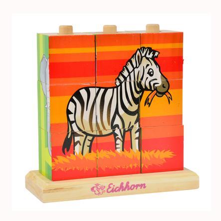 EICHHORN Cubes d'images, multicouleur, bois