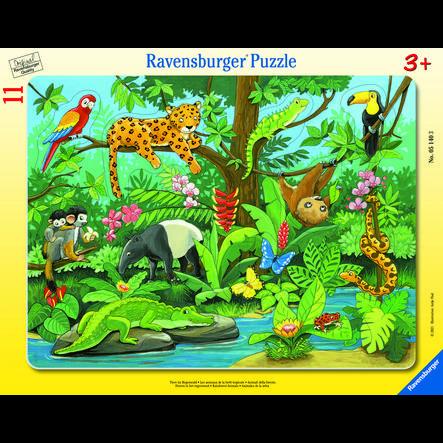 Ravensburger Rahmenpuzzle - Tiere im Dschungel