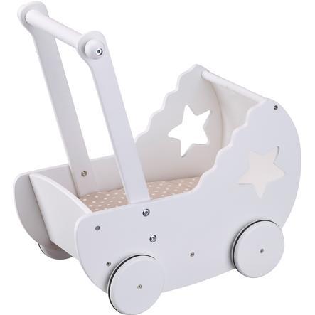 Kids Concept® Dukkevogn Star med sengesett, hvit