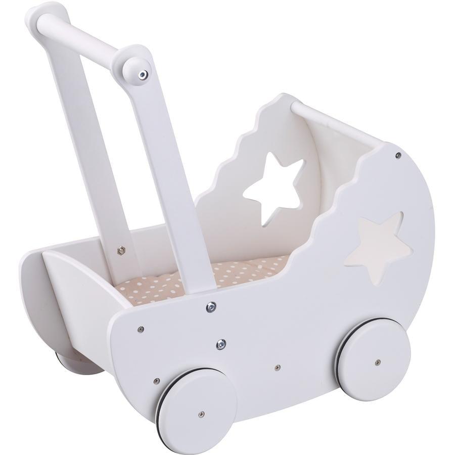Kids Concept® Cochecito de muñecas  Star con manta blanca