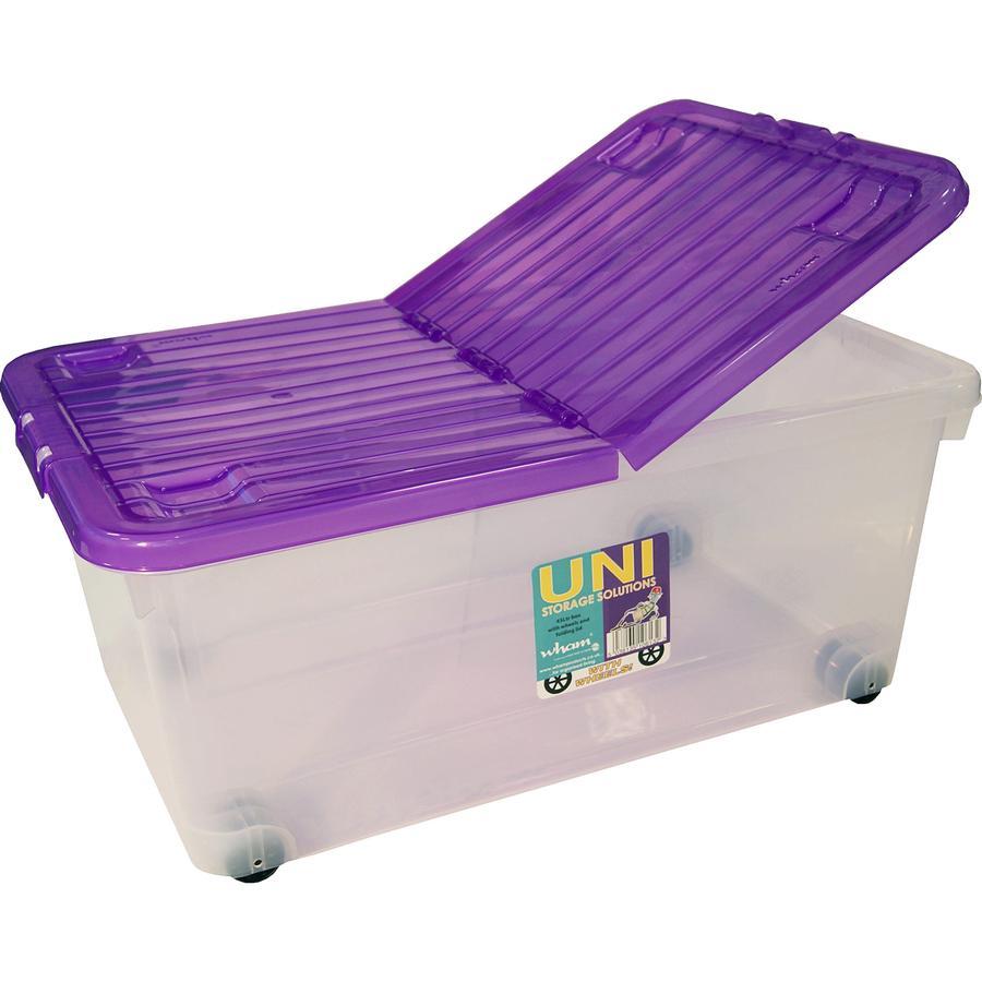 WHAM Rollbox 45L mit Klappdeckel, trans/Amethyst