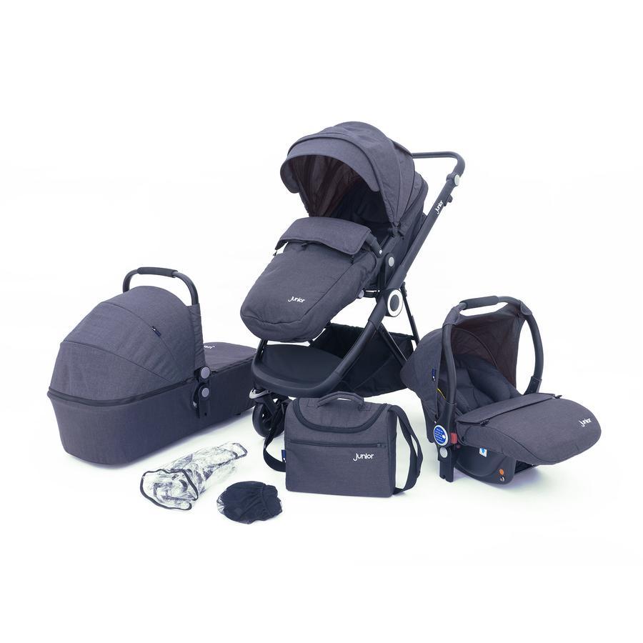 petex Carro de bebé set combi 3 en 1 Multi Traveller gris