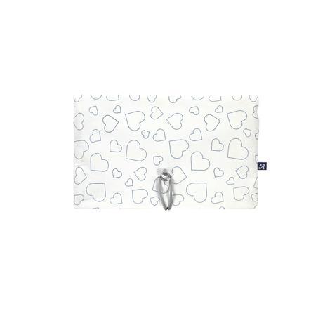 Alvi® Pochette à langer Hearts white