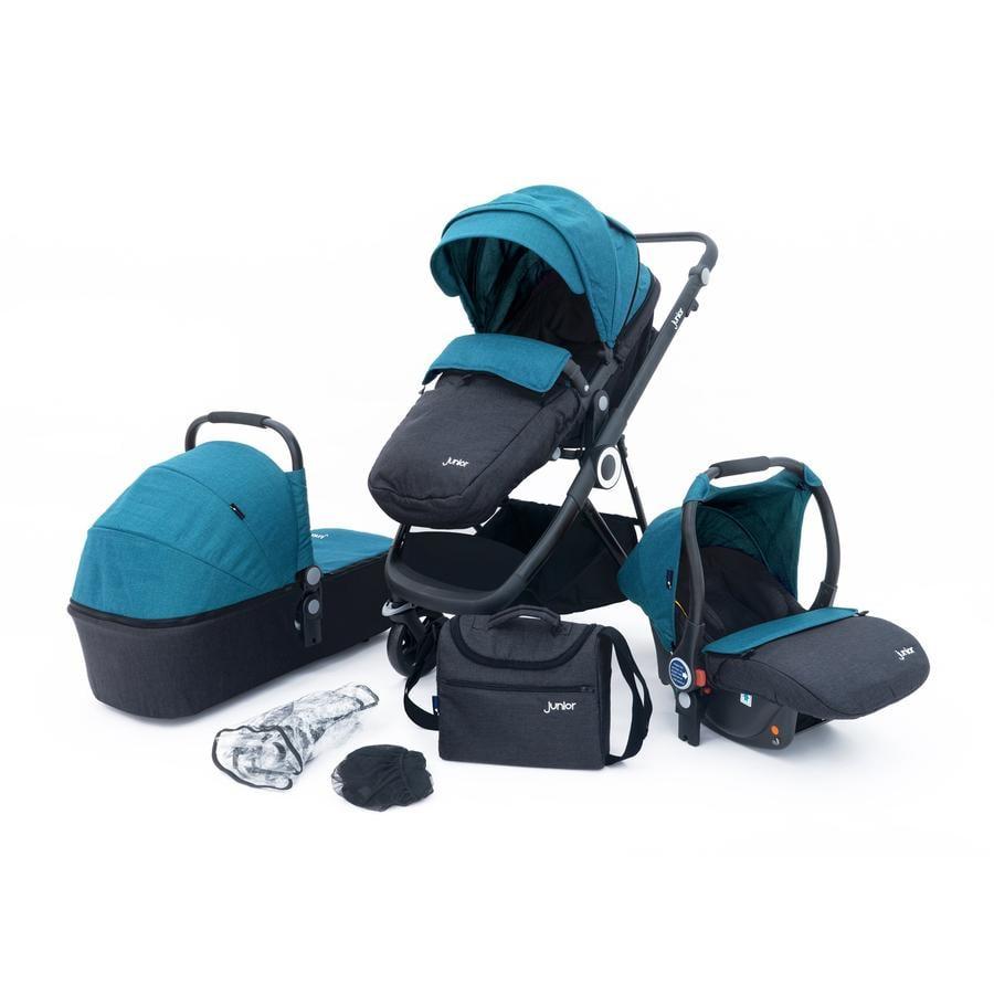 petex 3-i-1 Combi barnvagn Set Multi Traveler blå / grå