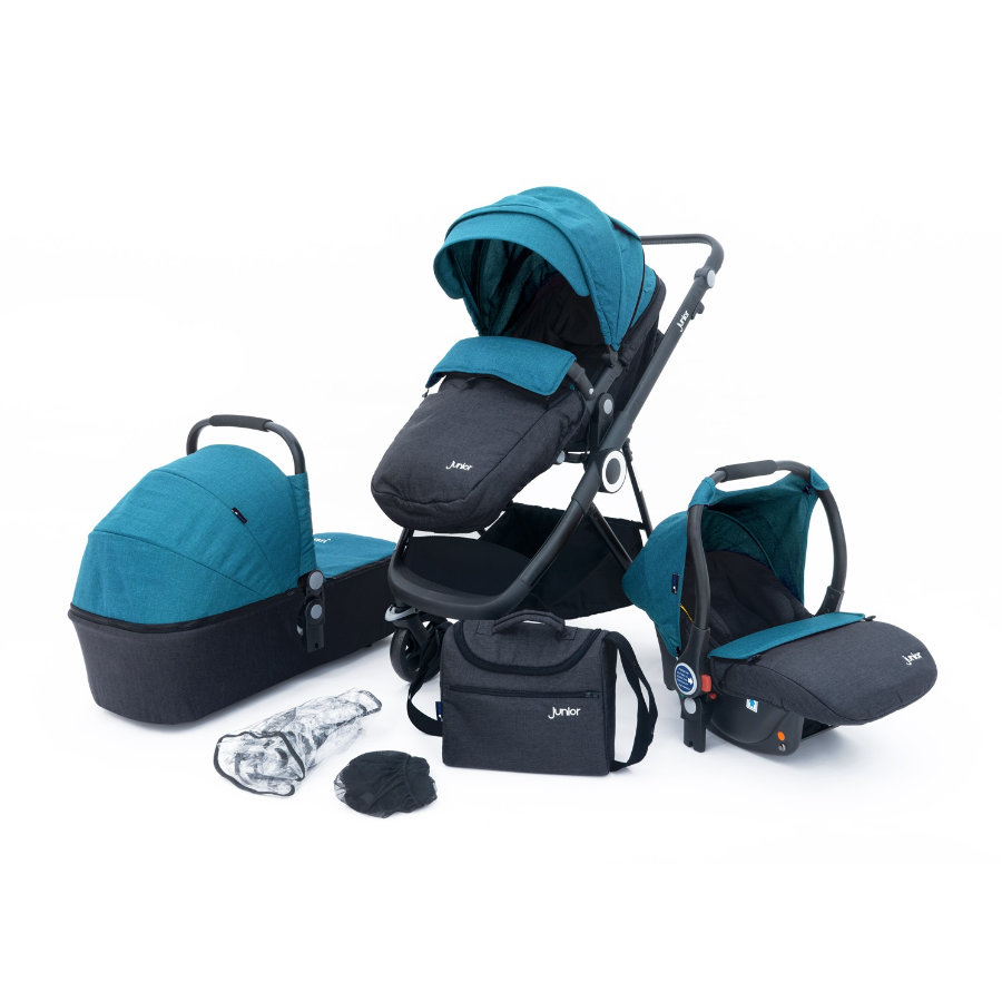 petex Passeggino trio 3 in 1 Multi Traveller blu/grigio