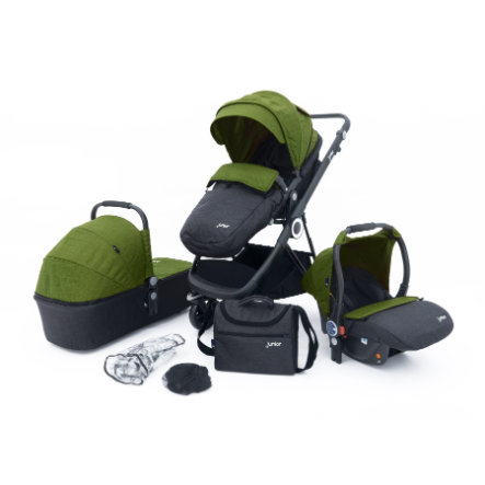 petex 3-i-1 Combi Barnvagn Set Multi Traveler grön / grå