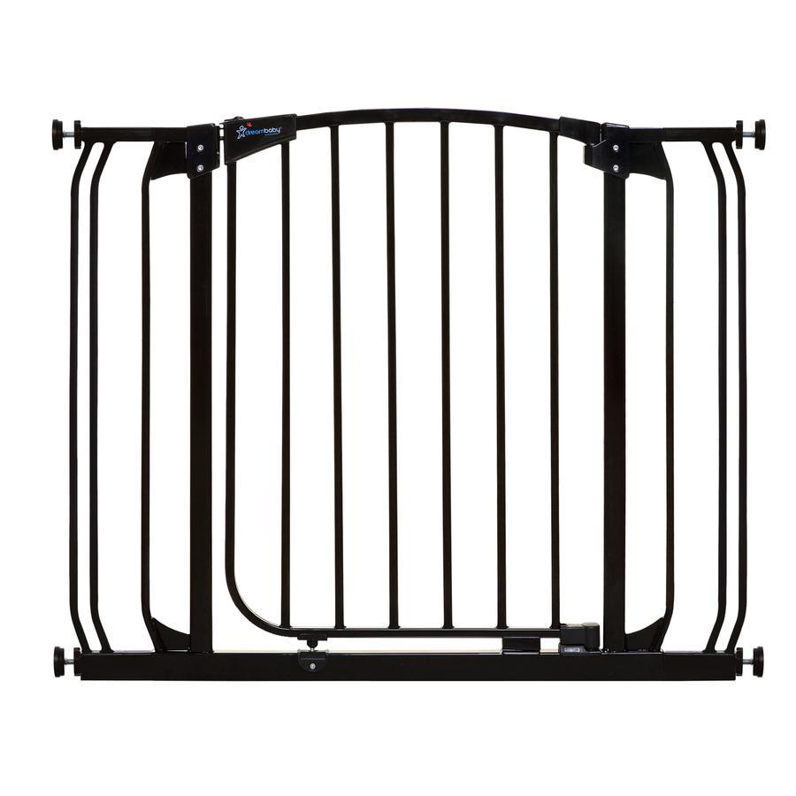 Dreambaby® Chelsea Türschutzgitter inklusive 2 Verlängerungen (9cm), Schwarz