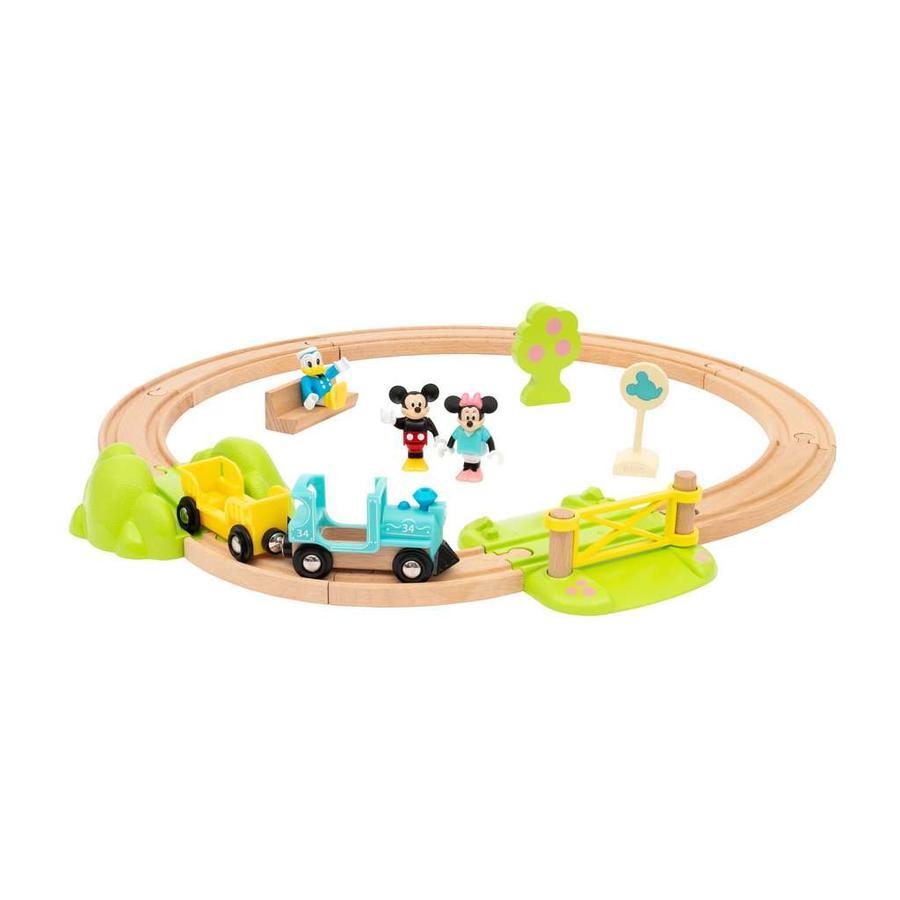 BRIO Circuit de train Mickey bois 32277