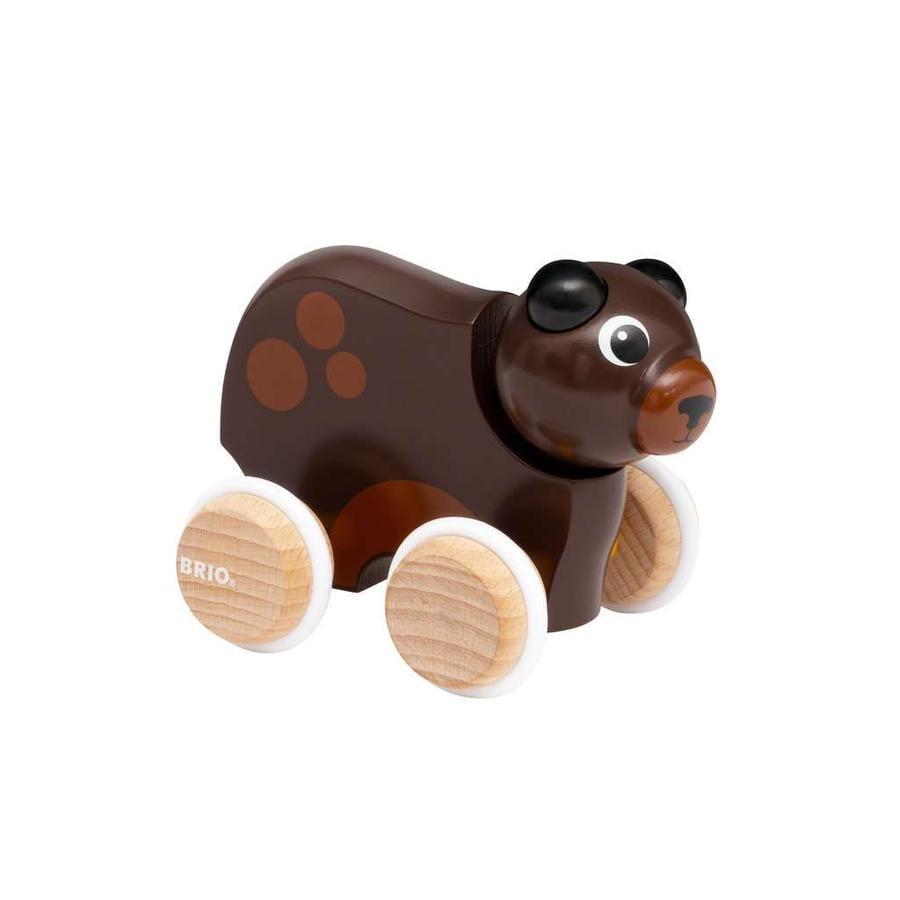 BRIO Lustiger Schiebe- Bär