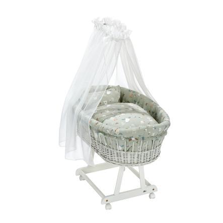 Alvi® Komplettstubenwagen Birthe weiß Baby Forest