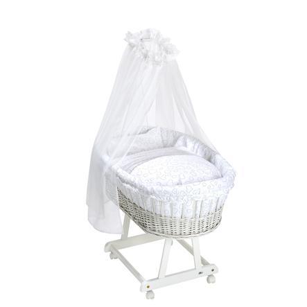 Alvi® Komplett bassett Birthe hvit Hjerte